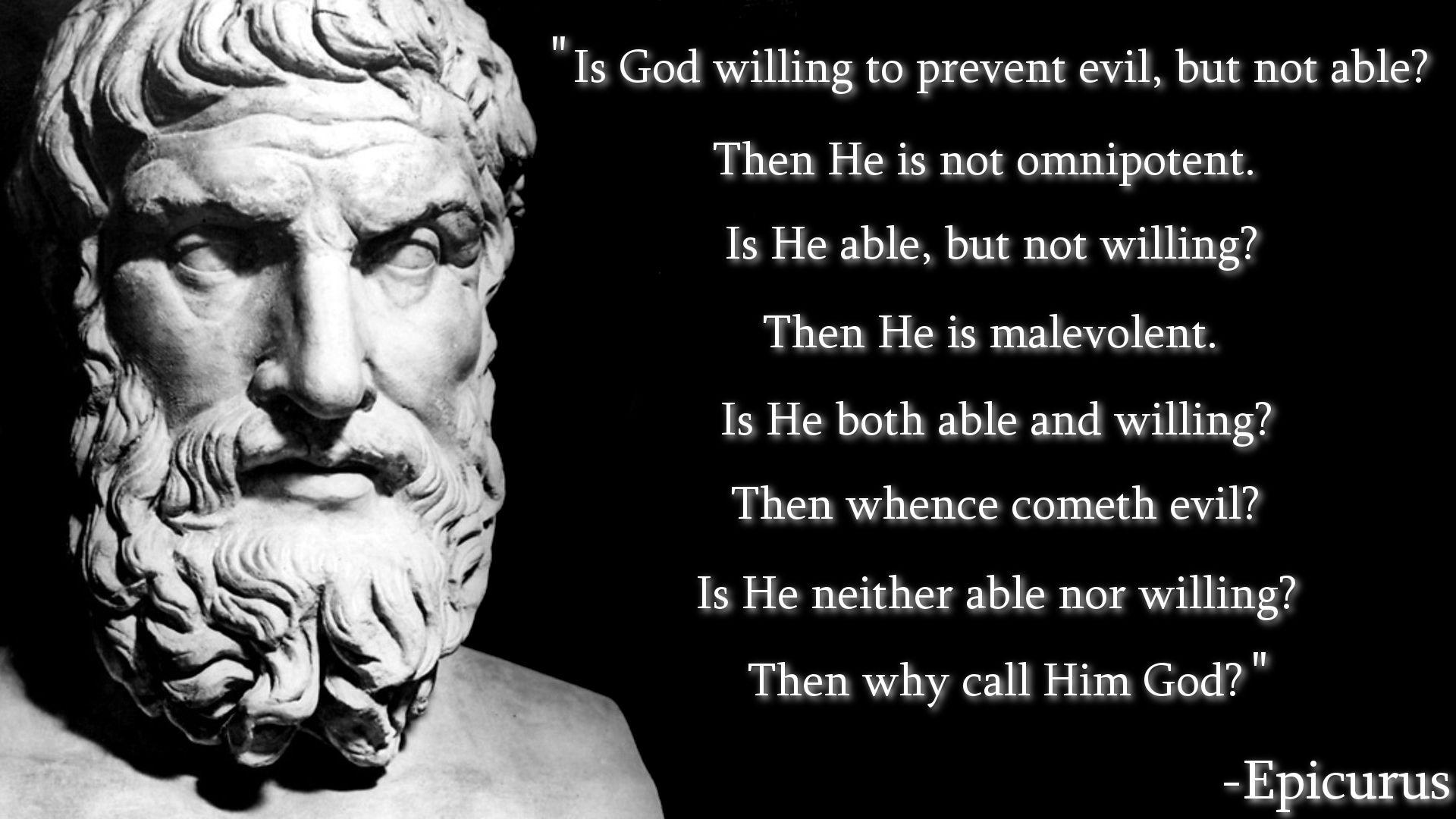 Epicurus On God Imgur Atheist Quotes Stoicism Quotes God