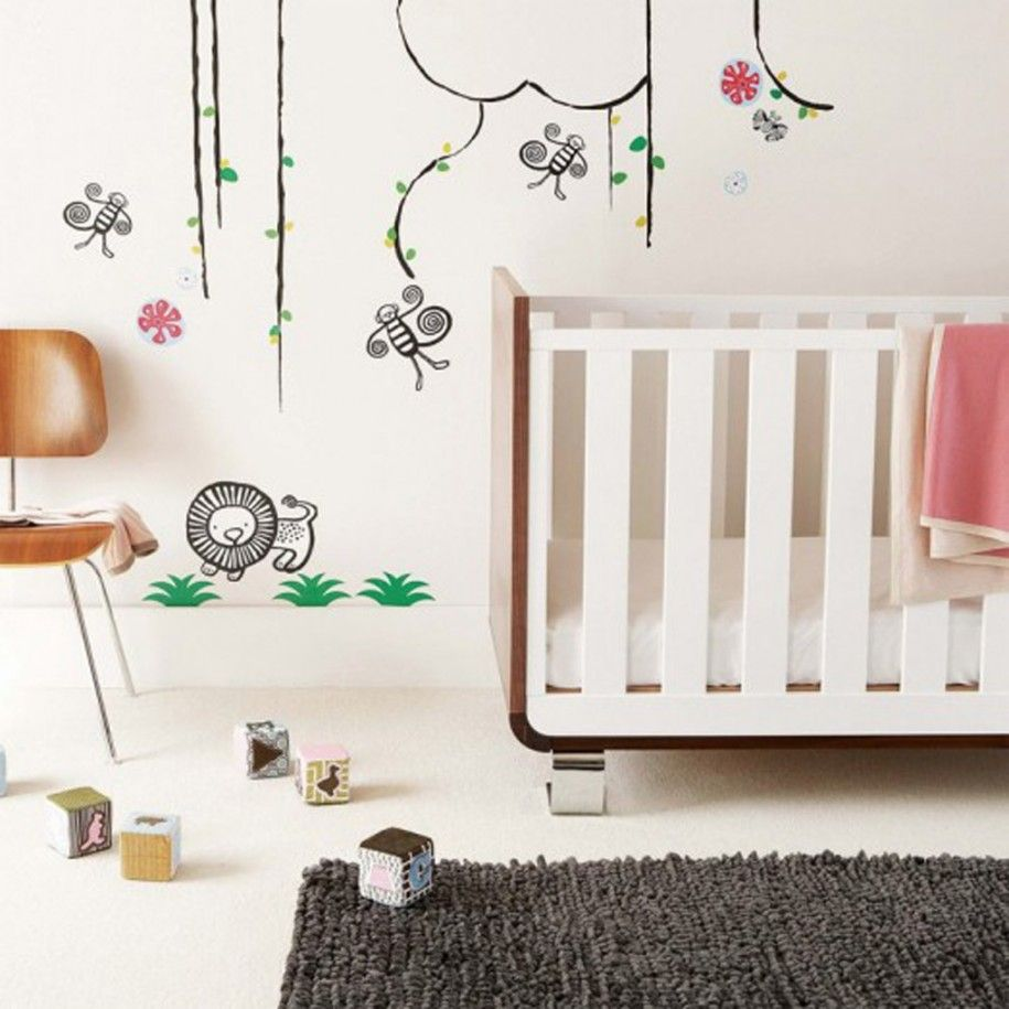 Modern Baby Nursery Ideas Socialcafe Magazine Nursery Wall Decals Nursery Wall Stickers Nursery Room Design
