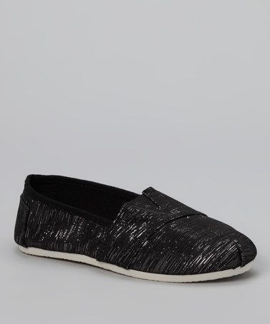 Take a look at this Black Shimmer Slip-On Shoe by Cool Kicks: Kids' Shoes on #zulily today!8.99