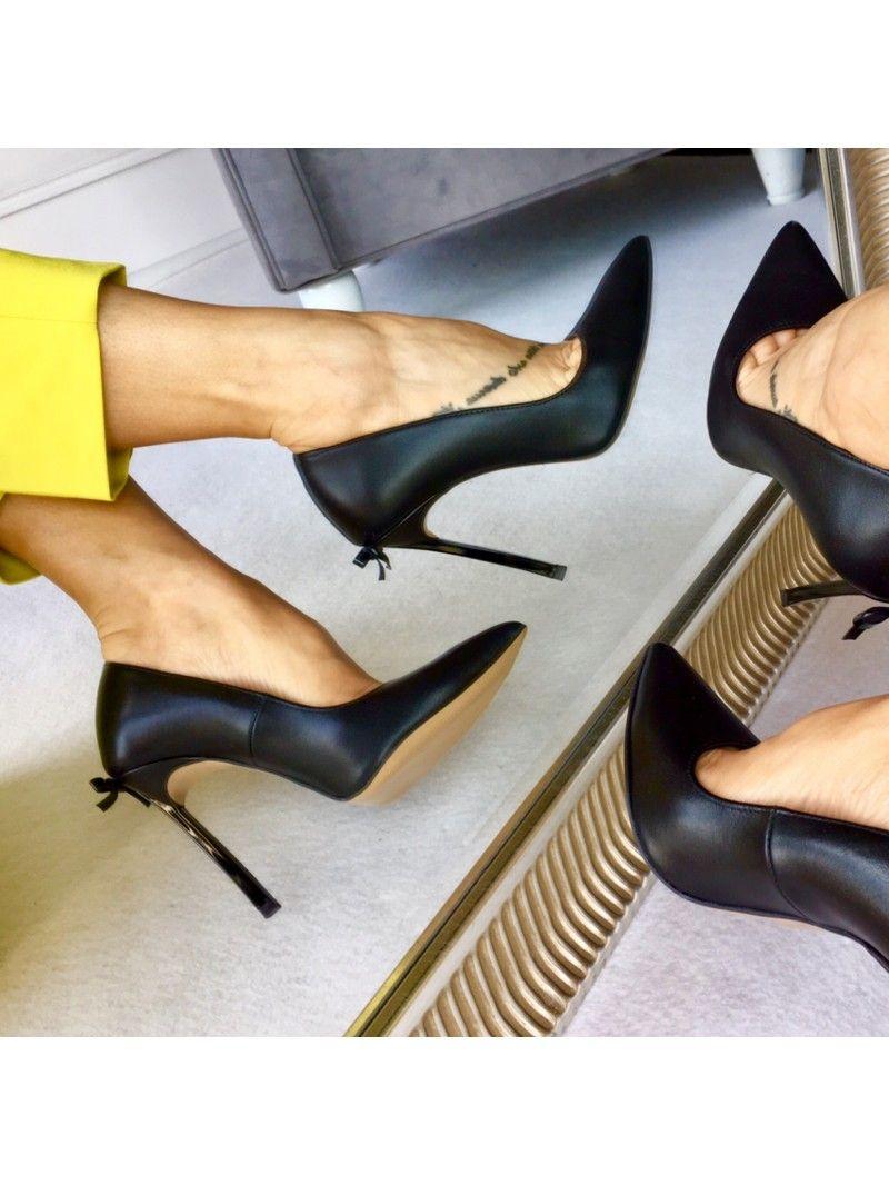 Wyjatkowe Polskie Szpilki Wloska Skora Ozdobny Obcas Mess Czarne Licowe Calzado Sklep Buty Damskie Warszawa Heels Stiletto Heels Christian Louboutin Pumps
