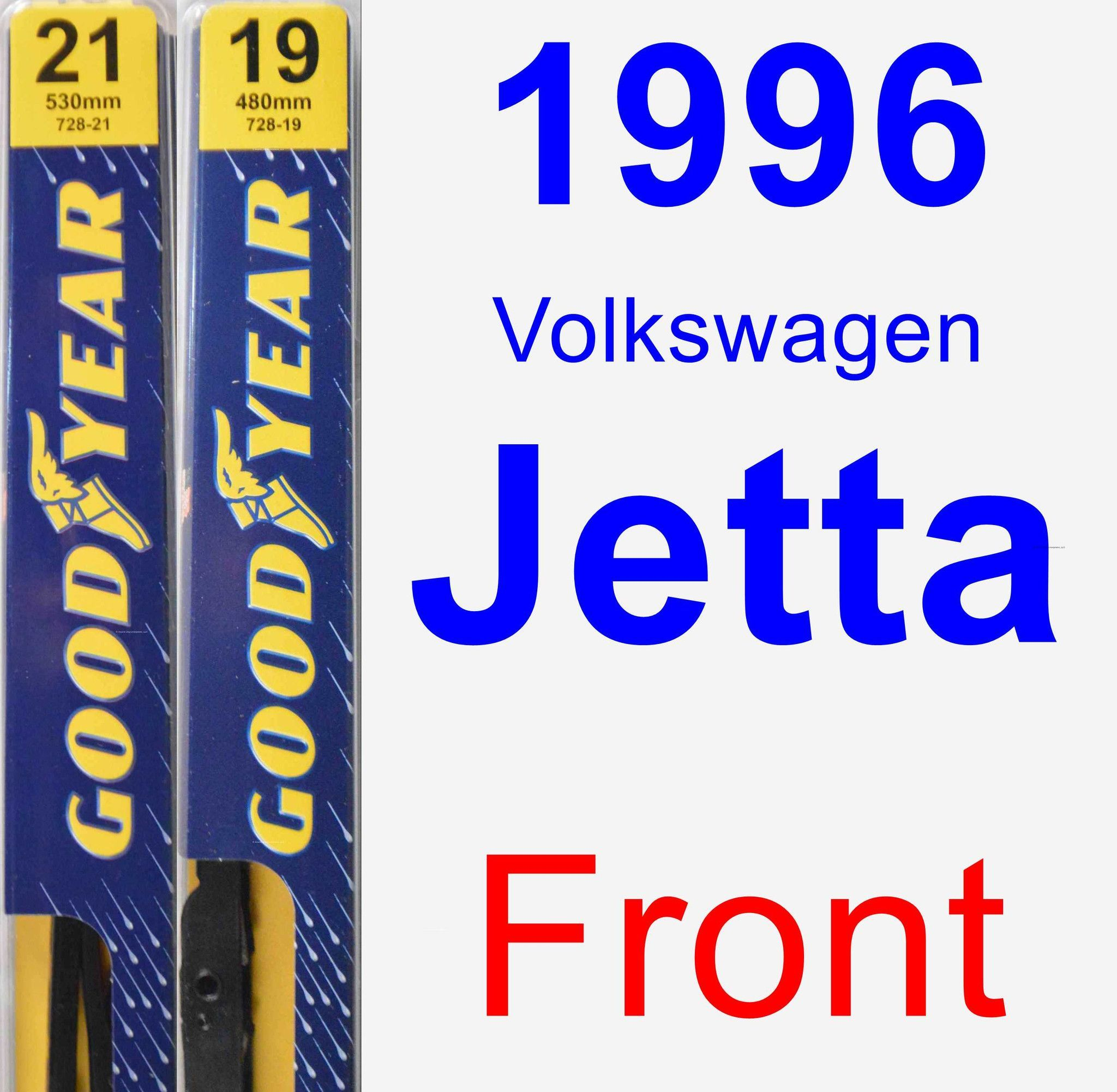 Front Wiper Blade Pack for 1996 Volkswagen Jetta - Premium