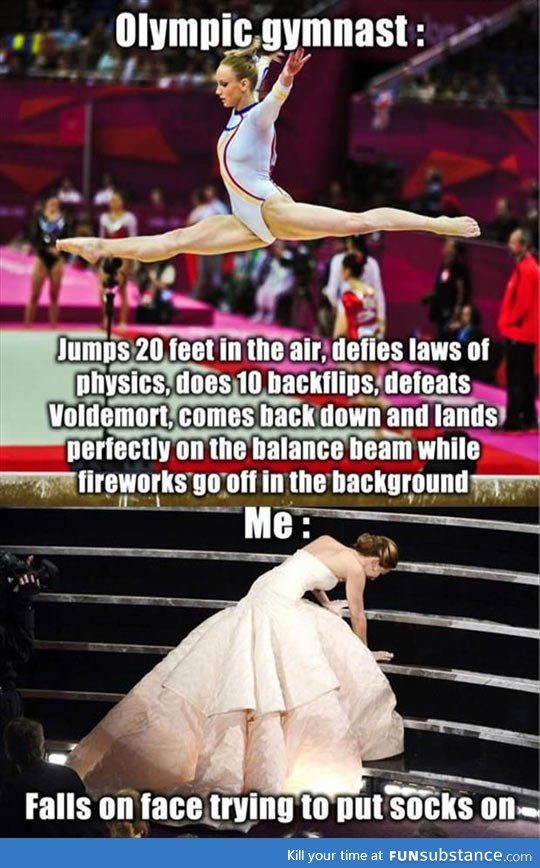 Differences between an olympic gymnastic and everybody else… - FunSubstance