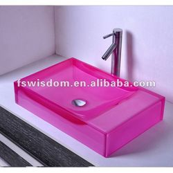 Italian Classic Solid Surface Pink Vanity Top Wd38247 - Buy ...