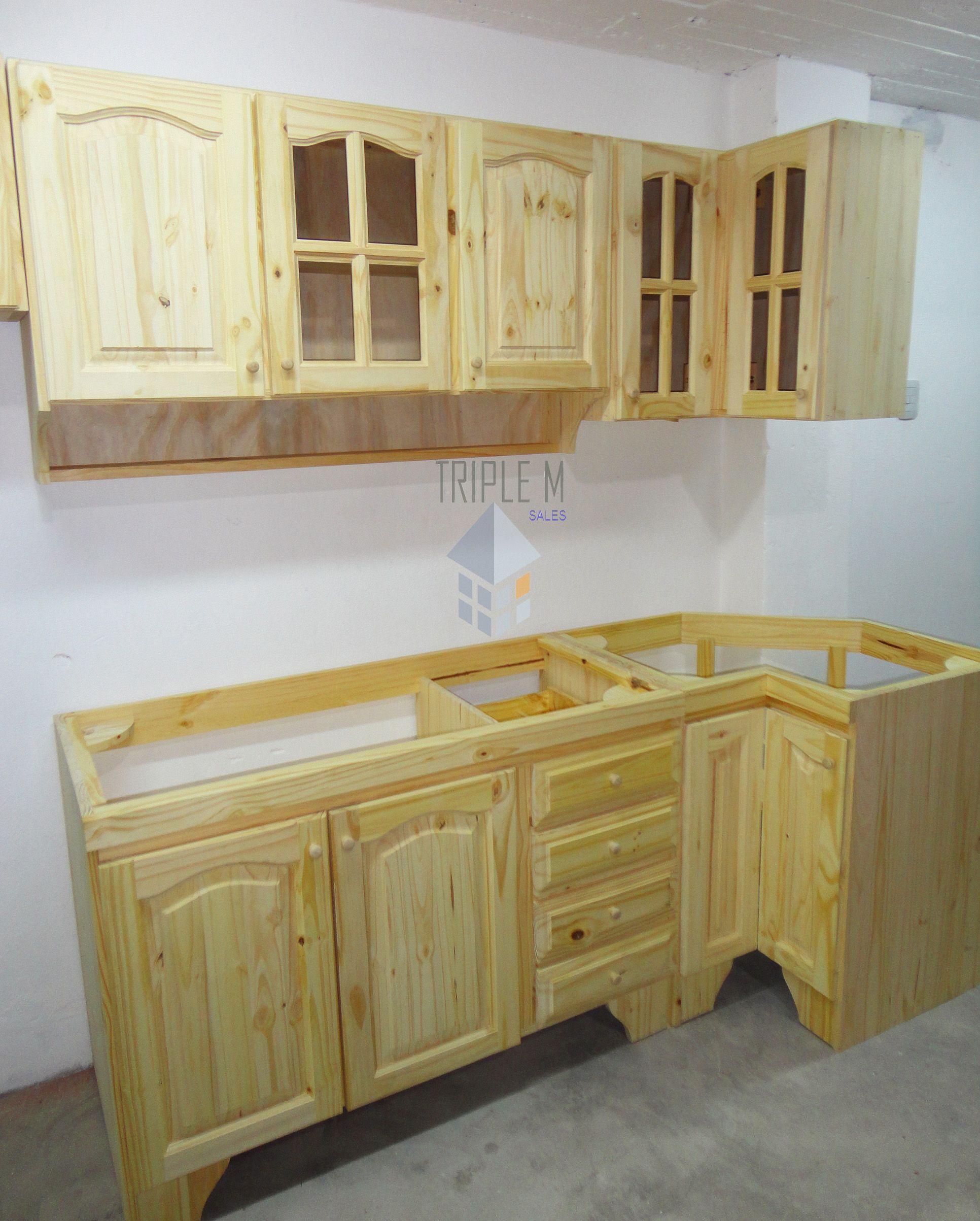 Bajo Mesada En 1,00m Pino Macizo Oferta Muebles De Cocina - $ 1.430 ...