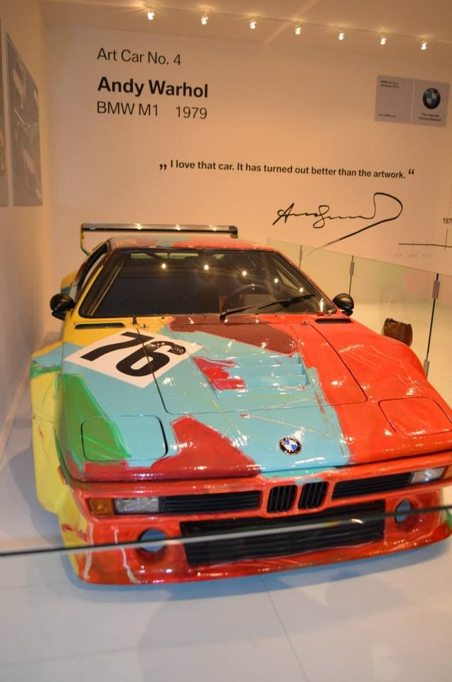 Andy Warhol  Art Car No. 4 BMW M1 — at Art Basel Miami Beach.