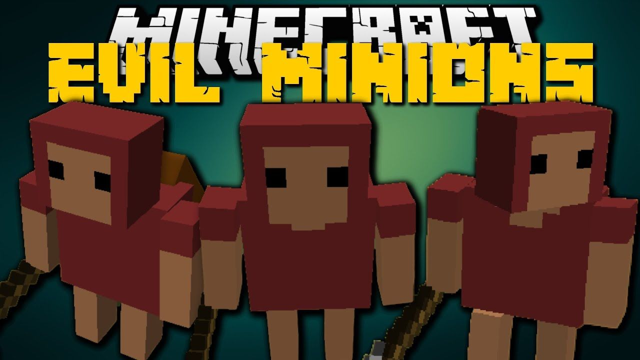 Minecraft Minions Mod For Minecraft 1 16 1 15 2 1 12 2 1 10 2 And 1 7 10 In 2021 Evil Minions Minecraft Mods Minecraft 1