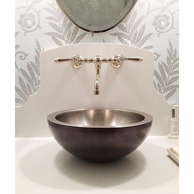 Urban Grace Interiors Plumbing Pinterest Interiors Powder - Hammered silver bathroom sink for bathroom decor ideas