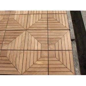 Teak Patio Flooring   You Can Get Other Woodish Tiles That Snap Together