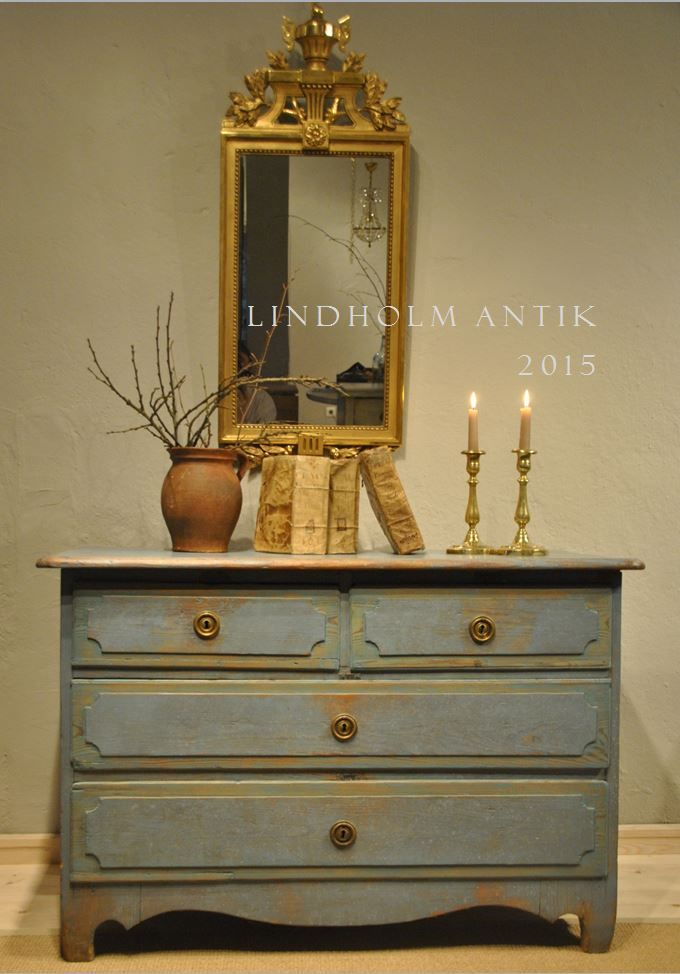 Lindholm Swedish And French Antiques Blue Original Paint Early