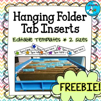 These Editable Tab Inserts Can Be Used To Bring You To An Extra Level Of Classroom Filing Cabinet Organization Th File Folder Labels Folder Labels Folder Tabs