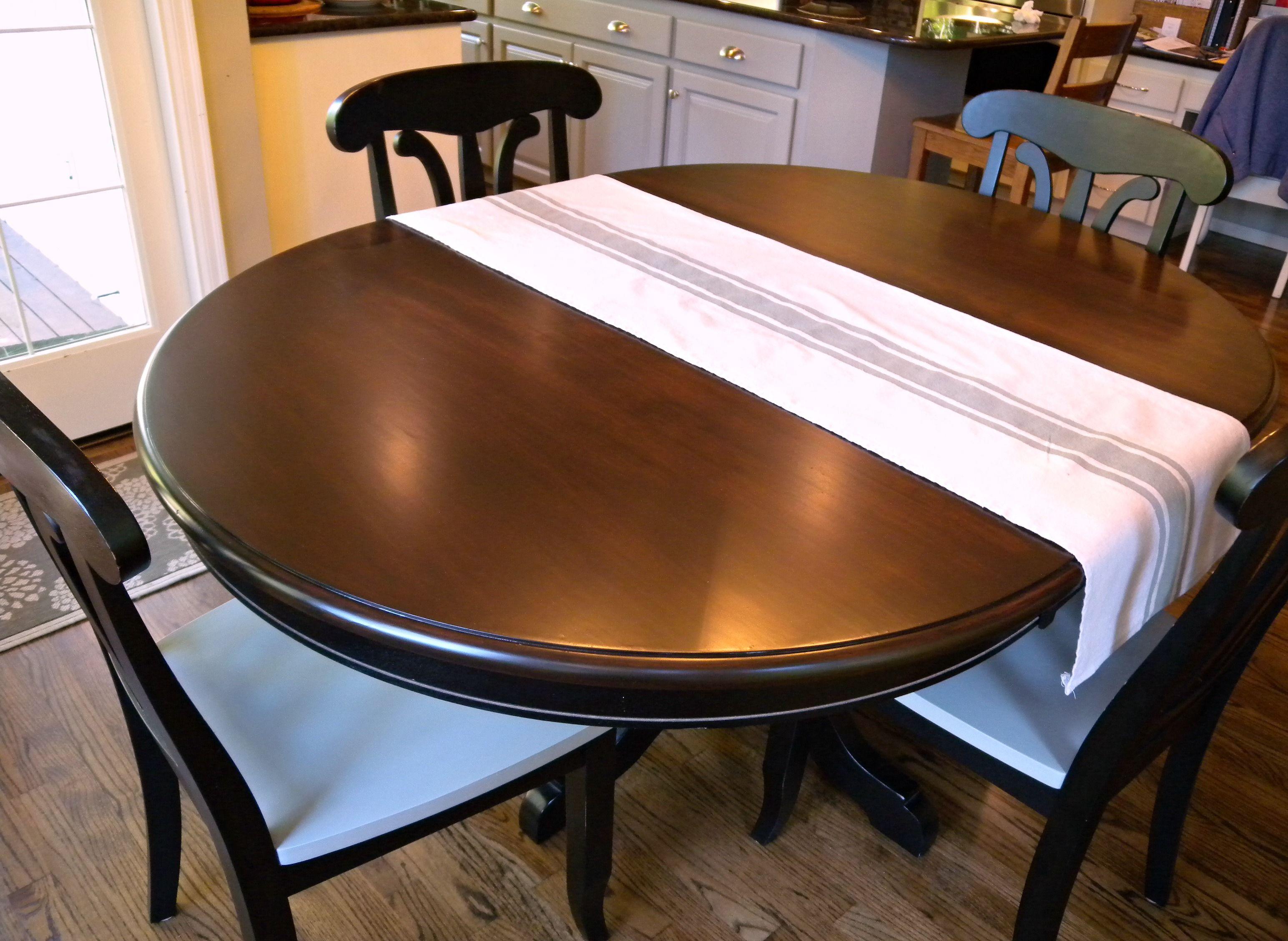 kitchen table update using java gel stain diy