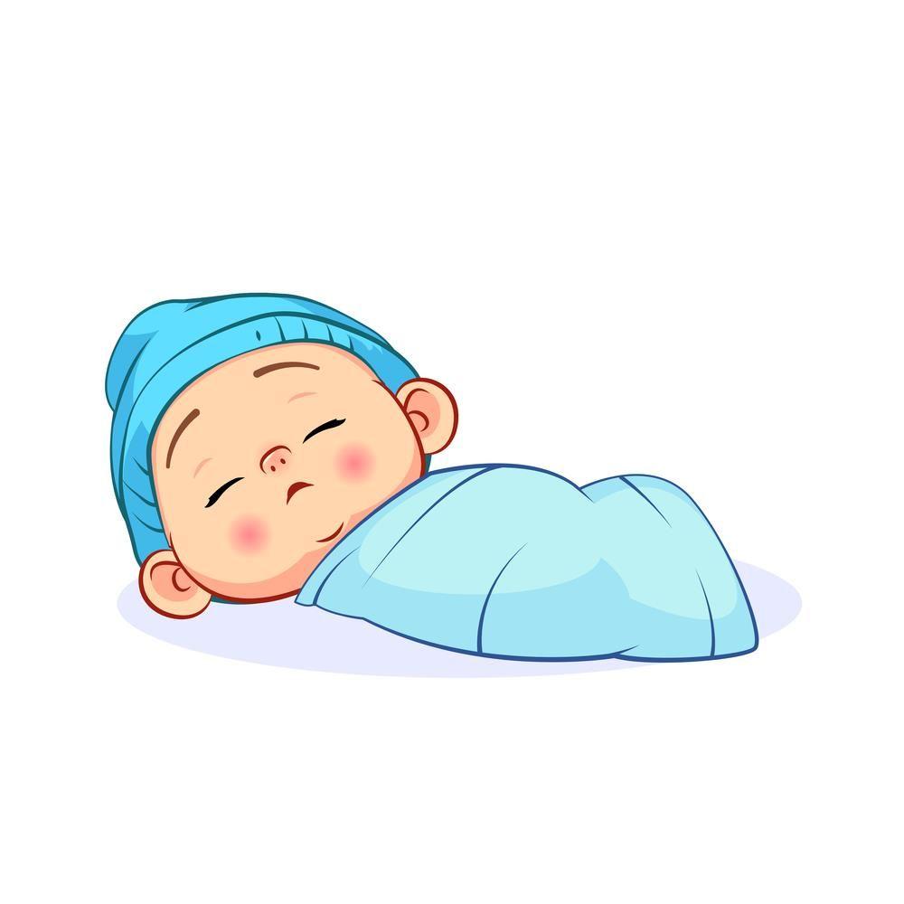 Best Crib Mattress Baby Cartoon Drawing Baby Illustration Cute Baby Sleeping