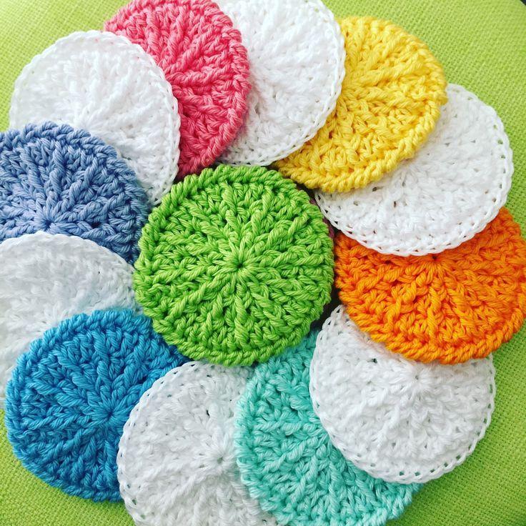 Que diriez-vous de tampons cosmétiques crochetés à la main en pur coton? Elle…   – Häkeln – Anleitungen
