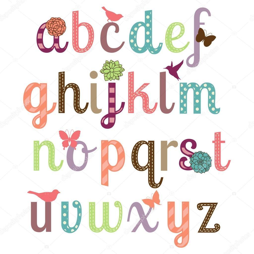 Conjunto de vectores alfabeto femenino — Ilustración de Stock #49692629