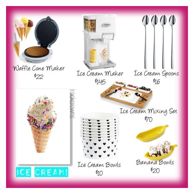 """Ice Cream Treats"" by irockcrowns ❤ liked on Polyvore featuring interior, interiors, interior design, home, home decor, interior decorating, WMF, Cuisinart, BIA Cordon Bleu and Chef Buddy"