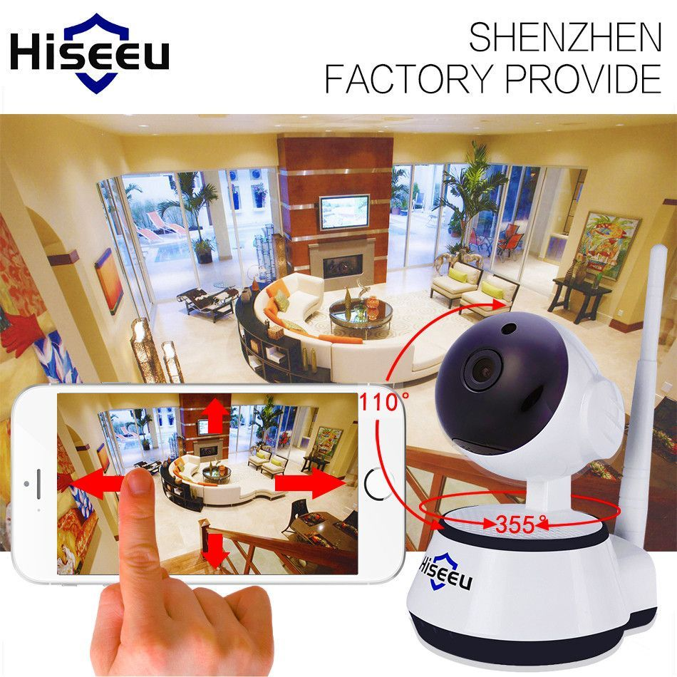 Hiseeu IP WiFi Wireless Home Security Surveillance Camera P Night