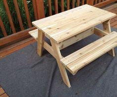 Kids picnic table picnic tables picnics and kids picnic this is an easy to build picnic table sized for kids up to age 6 or so i tried to keep it a standard size with easy cuts and a simple structure watchthetrailerfo