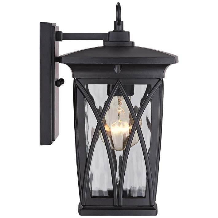 Quoizel Grover 11 High Mystic Black Outdoor Wall Light 8c988