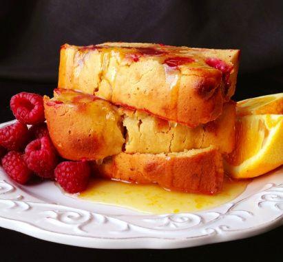 Paleo Orange Raspberry Coffee Cake Recipe - www.PaleoCupboard.com