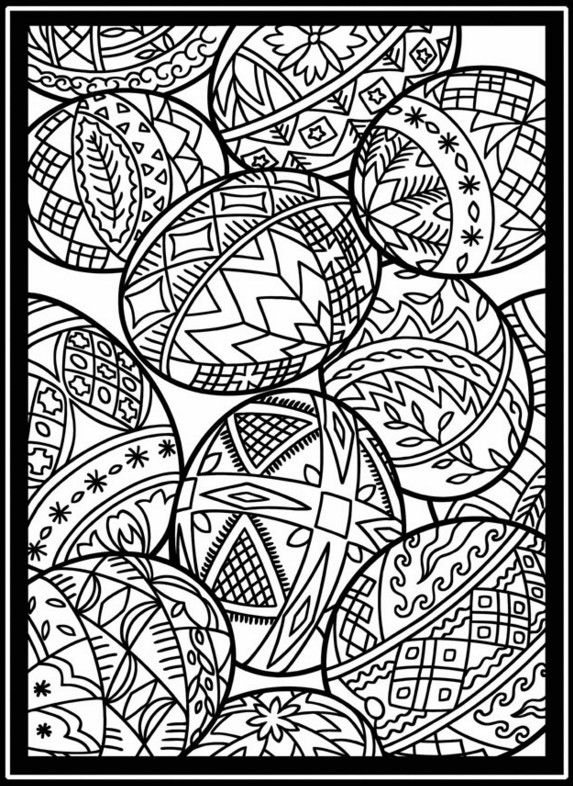 Easter Stained Glass Coloring Pages Holidays Seasonal Coloring