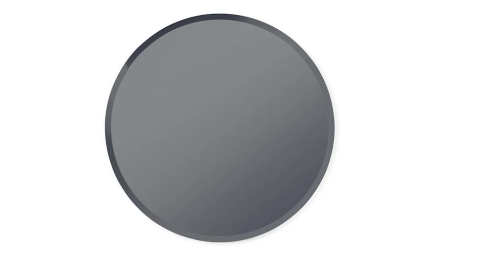Mysti Round Mirror 90cm Smoke Grey Made Com Tinted Mirror Smoke Grey Mirror