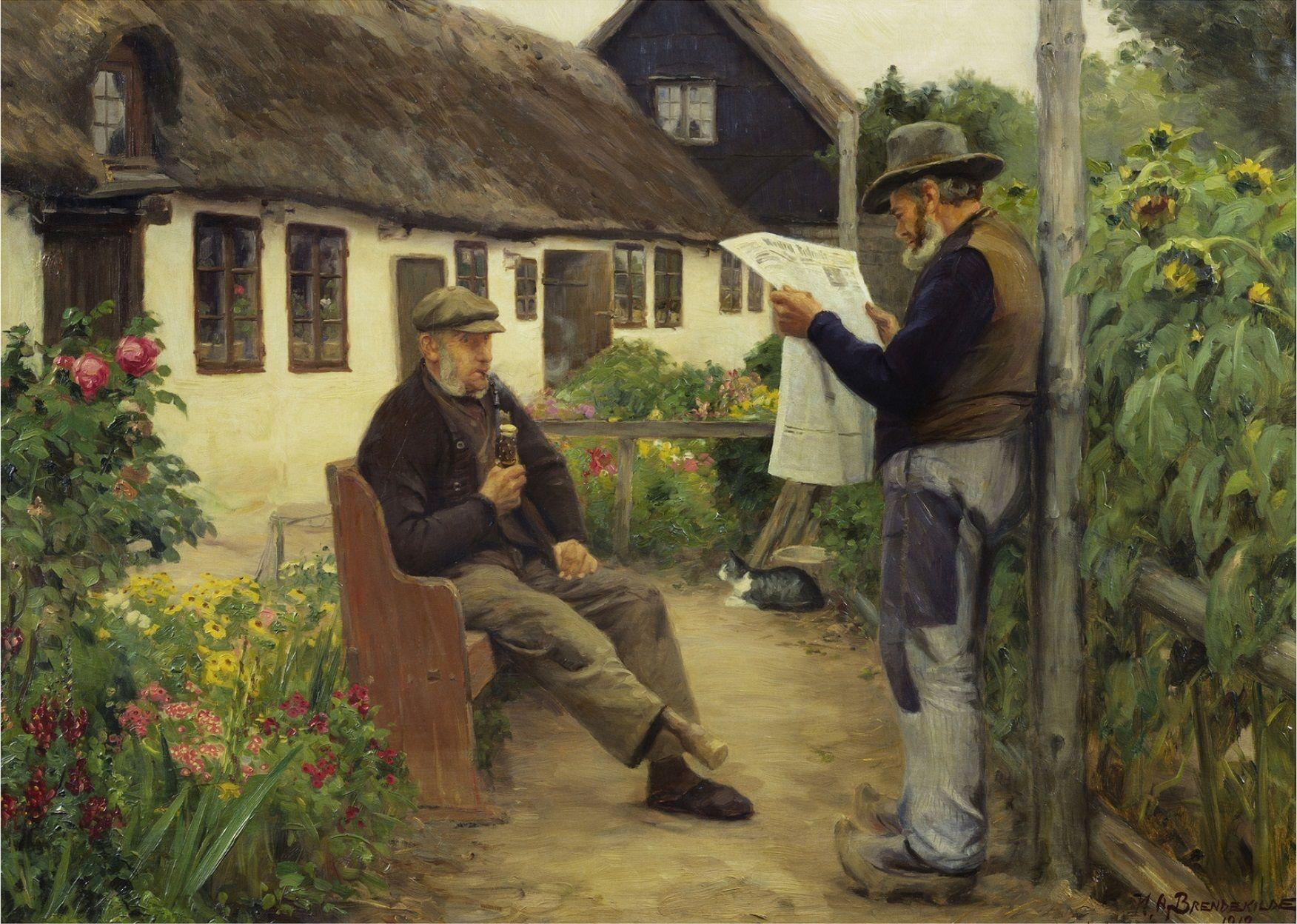 Pin Af Corina Wendell Pa Danish Painters Billeder Avis Malerier