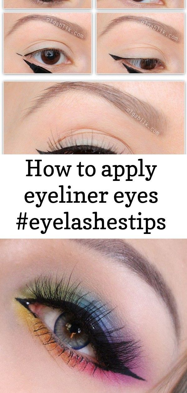 How to apply eyeliner eyes -