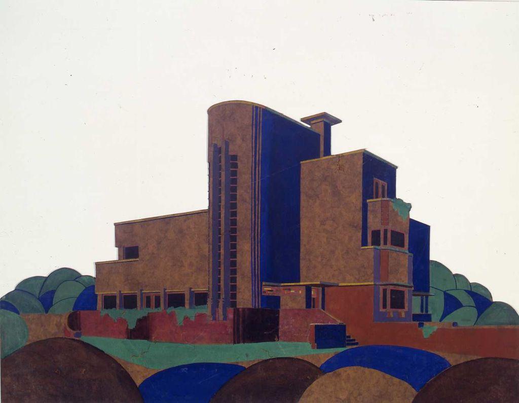Pierre Verbruggen (1886-1940), projet de villa pour M. Goethals à Bruxelles, 1923. © Archives d'Architecture Moderne