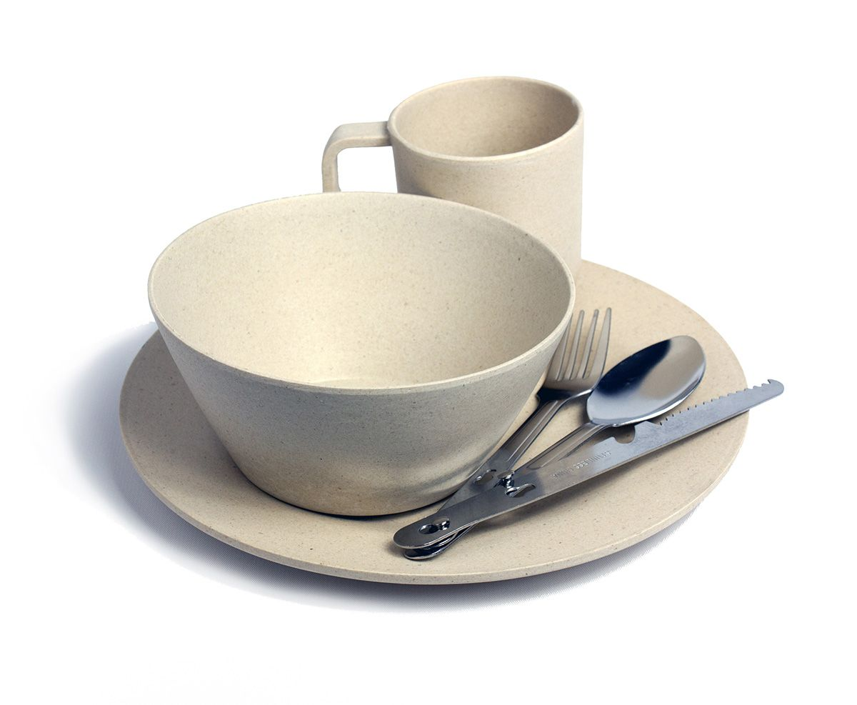 Bamboo Pandaware Set, Eco-friendly camp dinnerware set at Everything ...