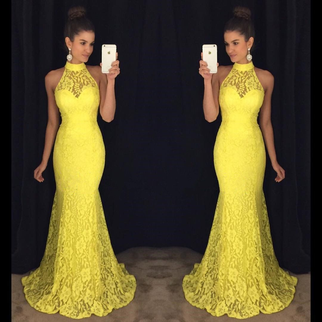 New arrival prom dressmodest prom dresslace long mermaid prom