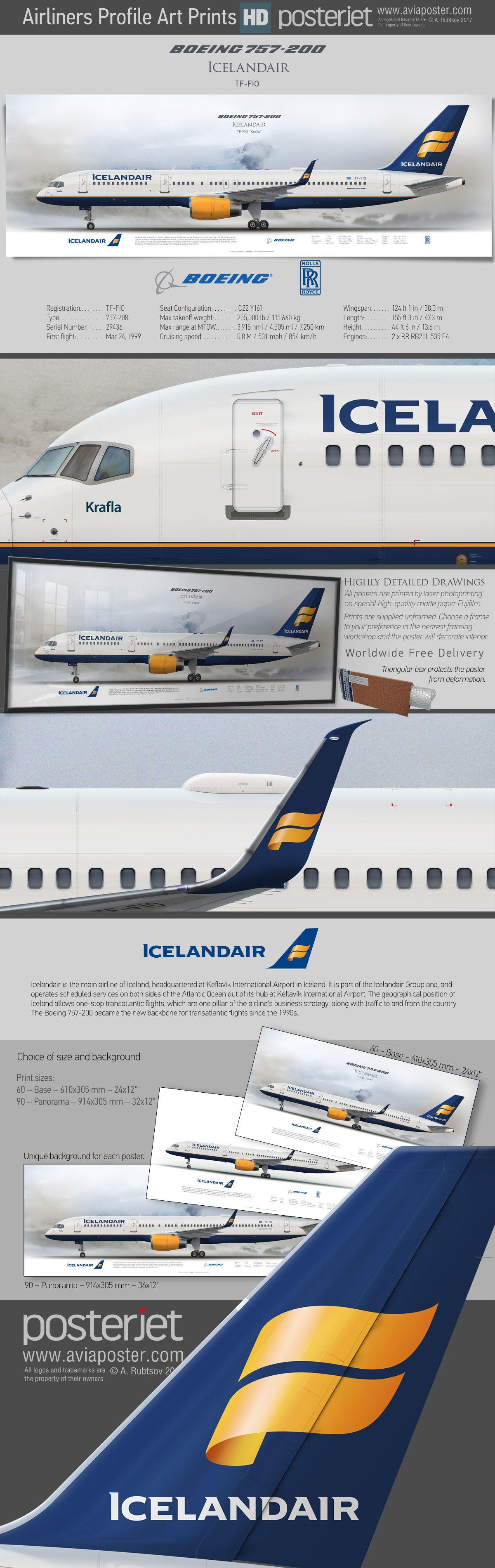 Boeing 757 200 Icelandair Tf Fio Www Aviaposter Com Aviation Jetliner Airplane Pilot Aviationlovers Avgeek Aviation Pilots Aviation Aviation Posters