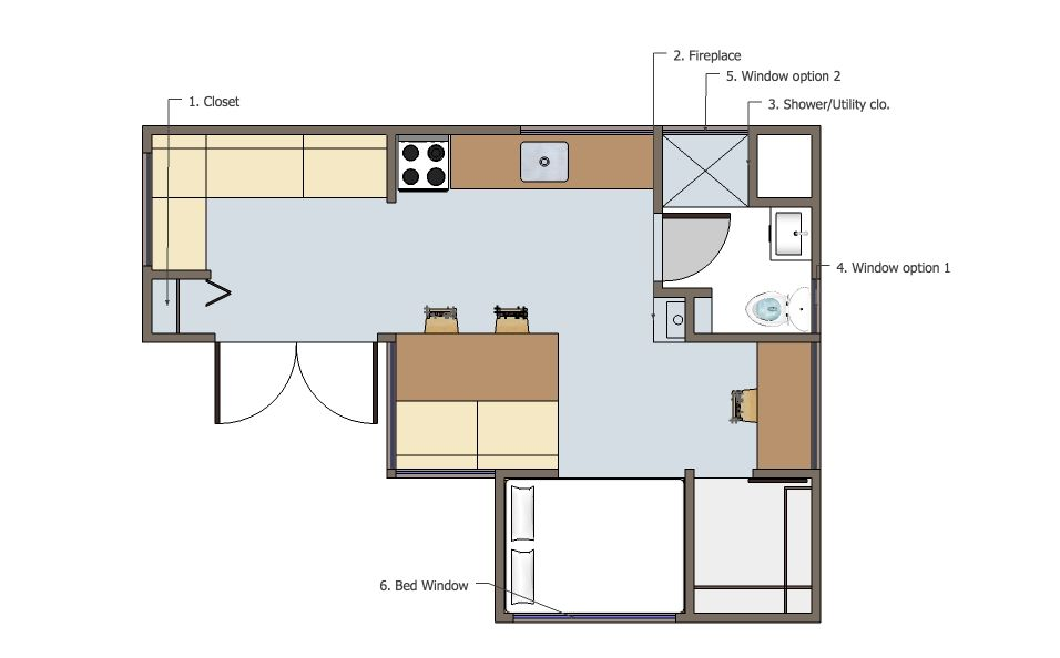 Joseph Sandy Usonian Floor Plan Options Two