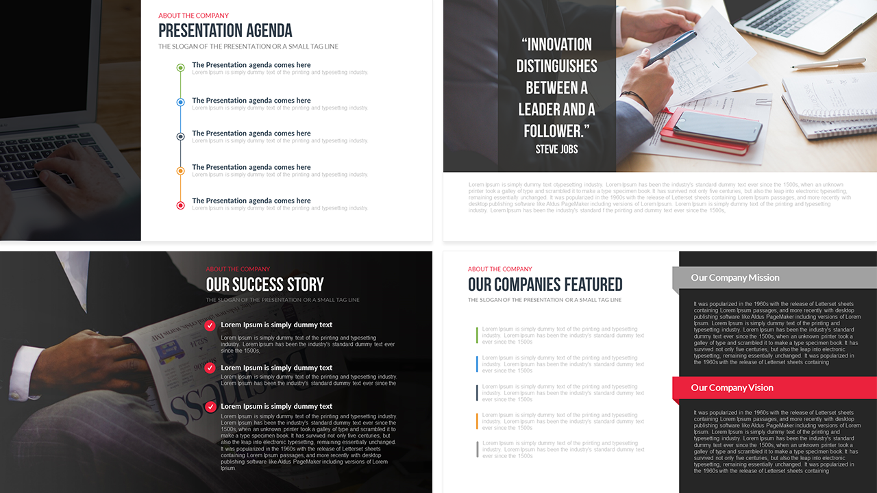 company profile free powerpoint template | slidebazaar | free, Modern powerpoint
