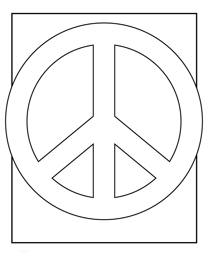peace sign coloring pages 014 - Peace Sign Mandala Coloring Pages