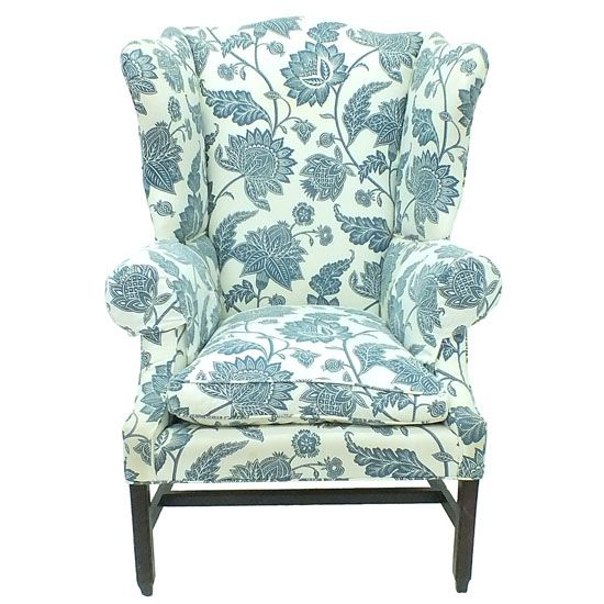 Best Wingback Chair With Blue Floral Print Wingback Chair 400 x 300