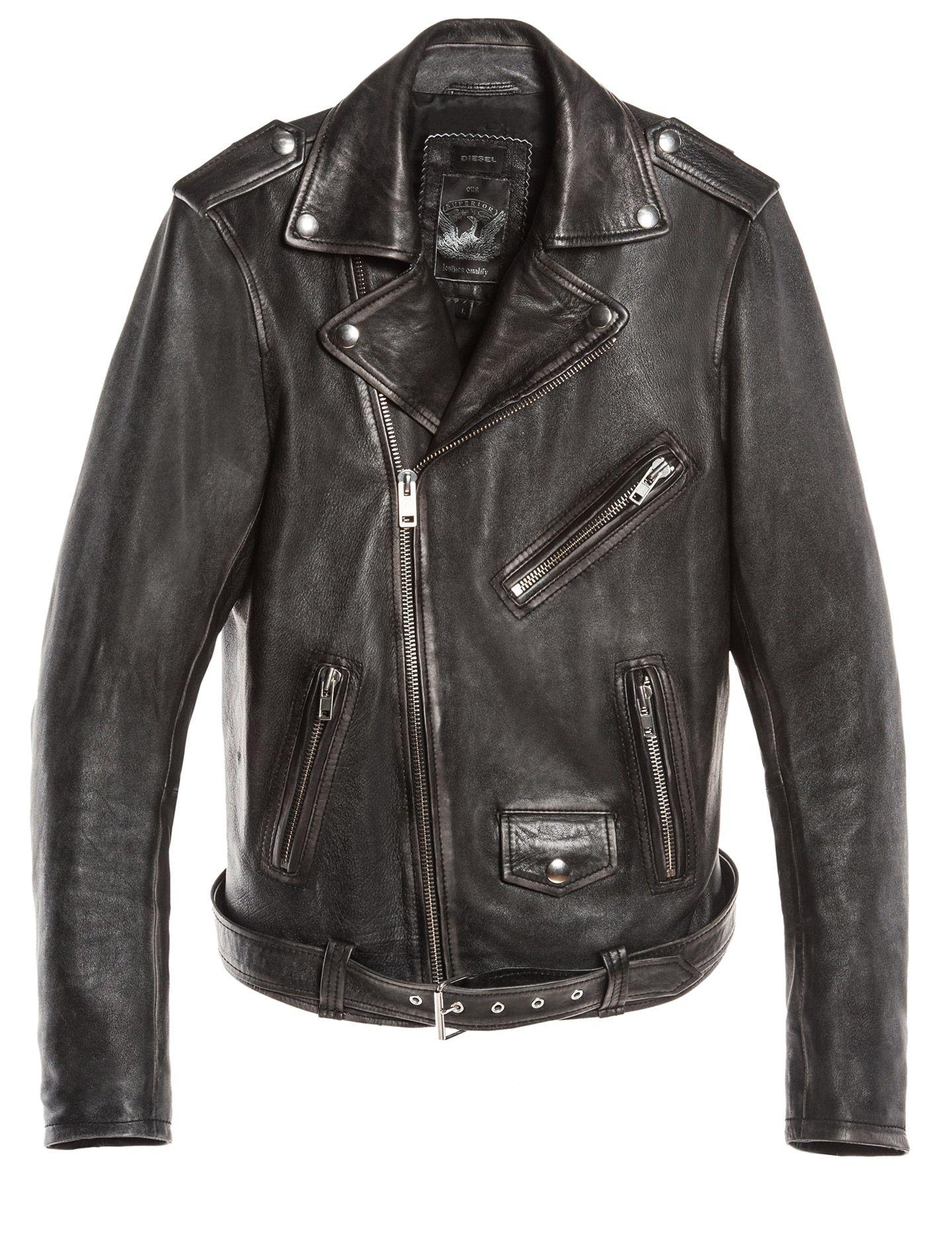 Diesel Men S Apparel Fw14 Preview L Seddik Mens Leather Clothing Leather Jacket Style Leather Jacket Men [ 1868 x 1440 Pixel ]