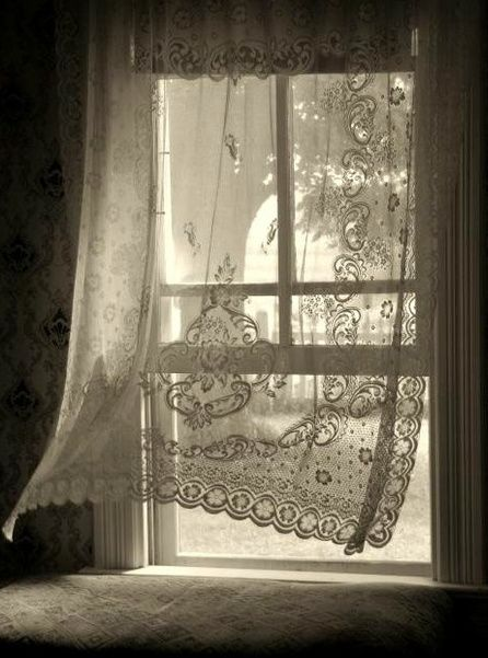 Nothing prettier than a lace curtain blowing in the breeze.