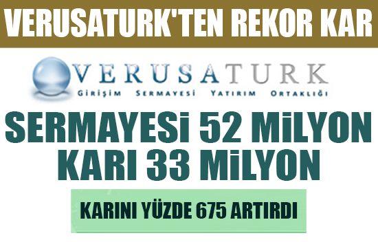 Verusaturk'ten rekor kar - Geçen yılı Borsa İstanbul\'daki en büyük halka arzı gerçekleştiren Verusaturk GSYO, 33 milyon lira kar açıklayarak yeni bir rekor daha kırdı