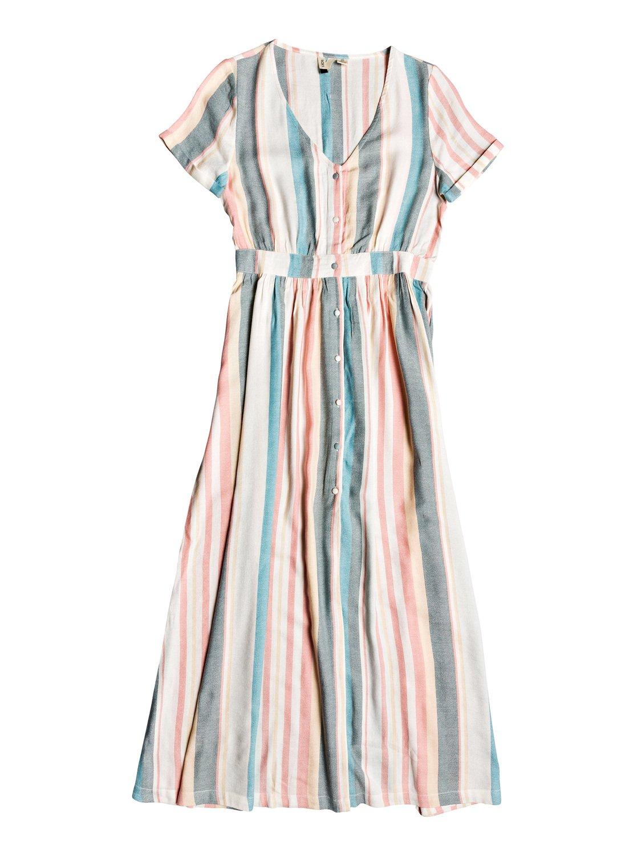 Furore Lagoon Short Sleeve Maxi Dress 192504419621 Roxy Maxi Dress With Sleeves Trendy Dresses Summer Dresses [ 1500 x 1117 Pixel ]