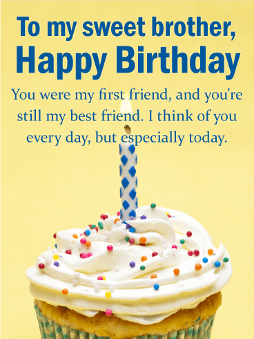 You Are My Best Friend Happy Birthday Wishes Card For Brother You