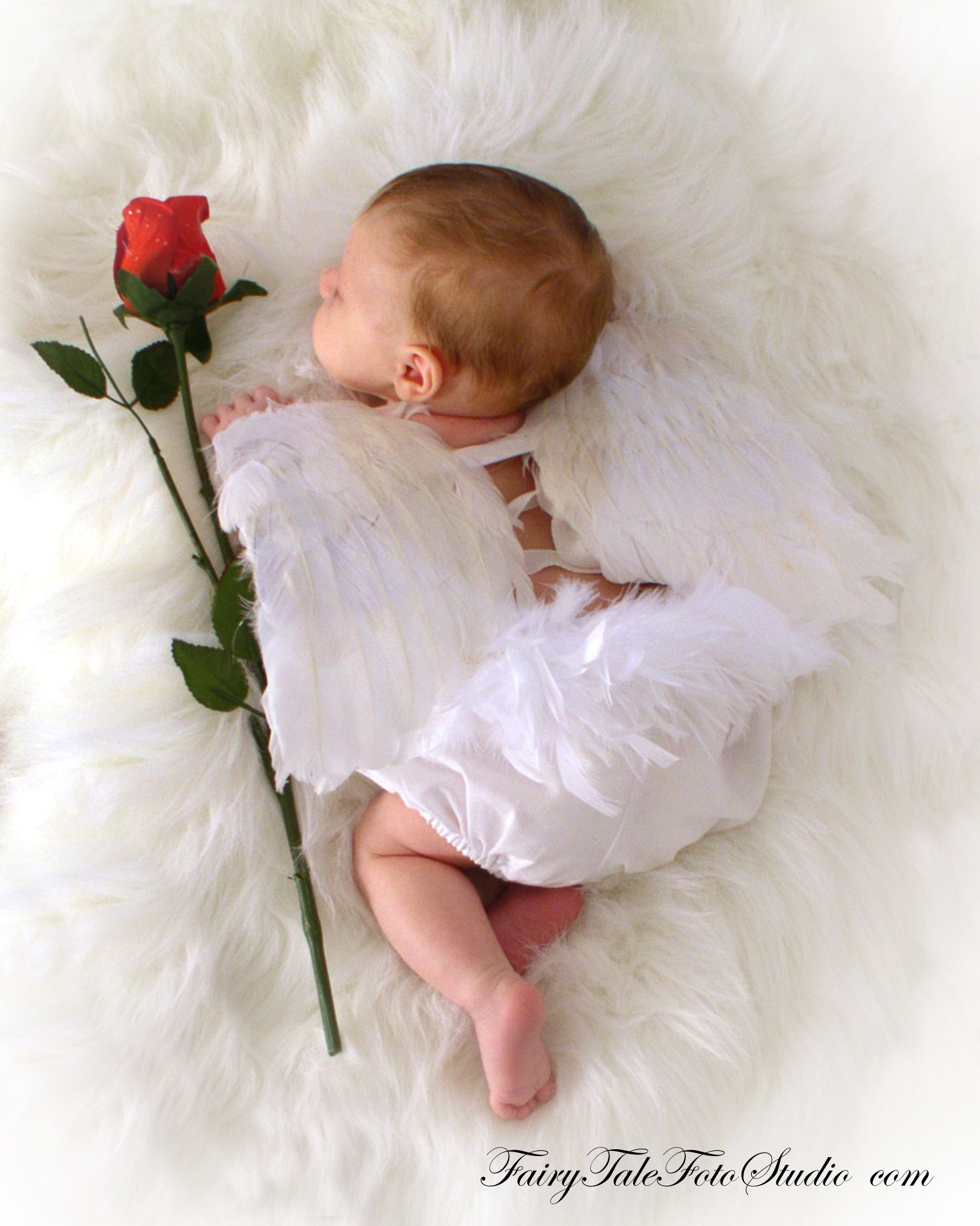 Newborn baby angel with rose cupid valentines day portrait poses photo idea photography cute kid pic baby pics posing ideas kids children