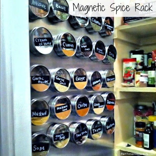 Rangement épices Aimanté: Mur à épice Aimanté Dans Garde-manger Ou Porte (peut-être