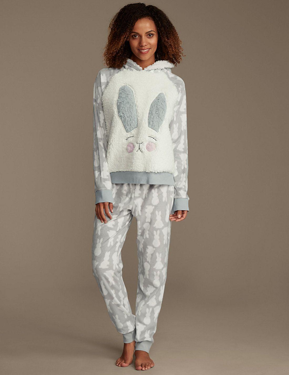abc9d8f2a488d Hopping Bunny Print Fleece Pyjamas in 2019 | Cozy Comforts | Pyjamas ...