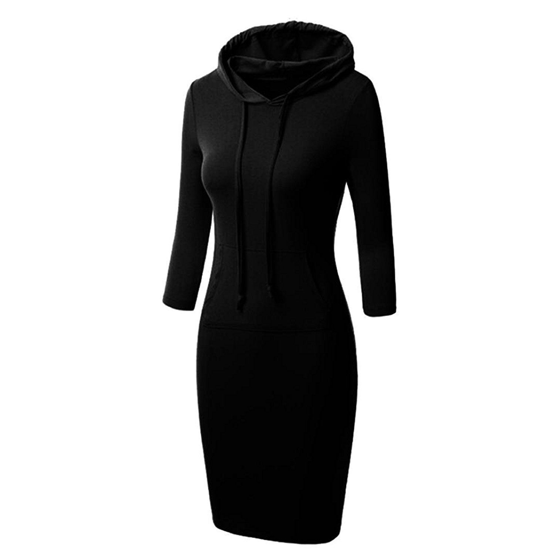 Amazon.com  Hooded Sweater Dress affd38e84