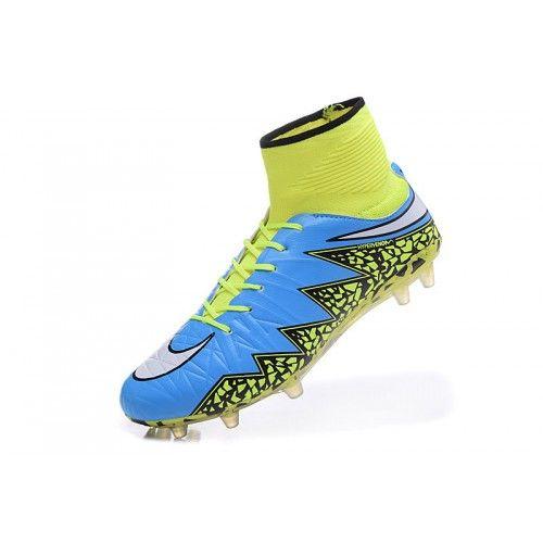 buy popular c7d95 c5ccd ... sale nuovo nike hypervenom phantom ii fg blu giallo scarpe da calcio  7fcff 2acea