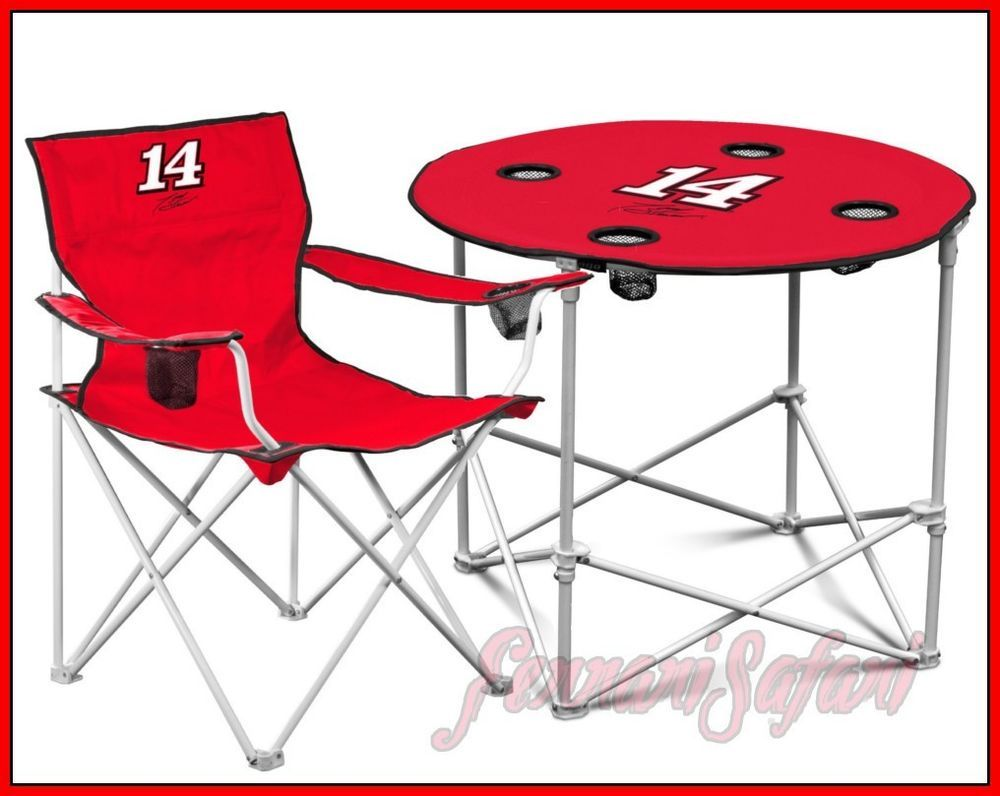 sit it out tony stewart set nascar tailgating table chair bbq