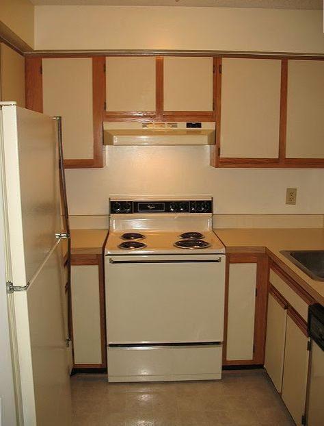 diy painting laminate kitchen cabinets the easy way; with minimal