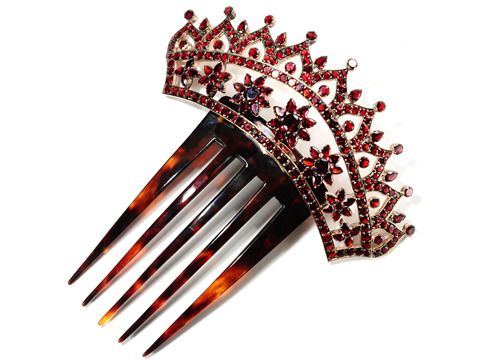 Crowned with a Victorian Garnet Hair Comb - The Three Graces