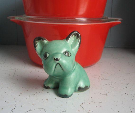 Vintage Sylvac Dog Green 73