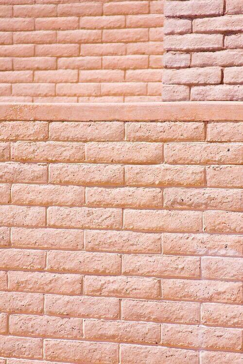brick wall pink peach